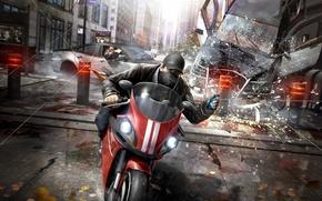 Picture Gun, Weapons, Cloak, Sweater, Phone, Ubisoft, Watch Dogs, Aiden Pierce, Aiden Pearce