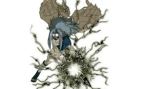 Picture lightning, white background, Naruto, red eyes, transformation, ninja, ninjutsu, Uchiha Sasuke, chakra, Naruto shippuuden