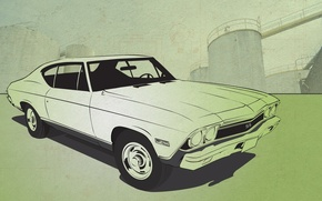 Wallpaper auto, vector, Chevrolet Chevelle SS