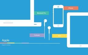 Picture apple, logo, iphone, ipad