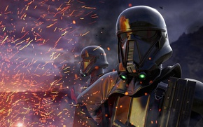 Picture Star Wars, fire, science fiction, sci-fi, movie, film, mask, pearls, sparks, Rogue One, A Star ...