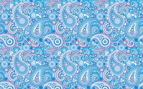 Picture blue, pattern, ornament, Paisley, Indian cucumbers