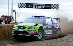 Picture Ford, Auto, Sport, Machine, Race, Focus, WRC, Rally, Rally, Focus, Start, The front