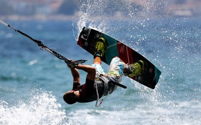Picture sports, kite surf, athelte