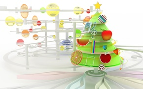 Wallpaper toys, chromatic xmas, new year