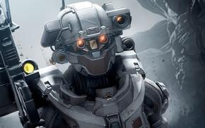 Picture future, Microsoft, battlefield, gun, game, soldier, weapon, woman, war, Linda, fight, Xbox 360, battle, rifle, …