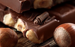 Picture macro, food, chocolate, nuts, dessert, forest