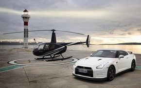 Picture helicopter, R35, Egoist, Nissan GTR