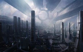 Picture space, station, Mass Effect 2, The citadel