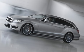Picture grey, background, Mercedes-Benz, CLS, Mercedes, AMG, the front, universal, AMG, Shooting Brake, Tsls