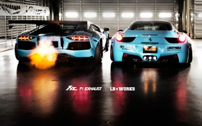 Wallpaper Italia, LP700, Liberty Walk, 458, Ferrari, Aventador, Fi Exhaust, Lamborghini