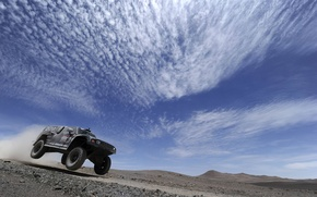 Picture The sky, Clouds, Black, Sport, Race, Day, Rally, Dakar, The front, Hammer