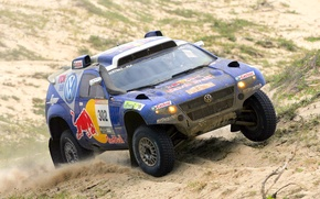 Picture Volkswagen, Machine, Touareg, Rally, Dakar, Dakar, SUV, Rally, The front