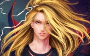 Wallpaper hair, art, tape, guy, Naruto, Zetsuai89, Deidara