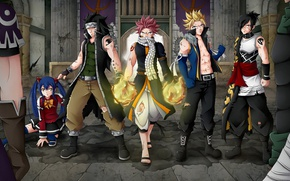 Picture anime, art, guys, characters, Fairy Tail, Fairy tail, by celestialrayna