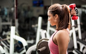 Picture woman, workout, fitness, gym