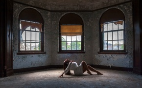 Picture girl, pose, room, mood, Windows, the situation
