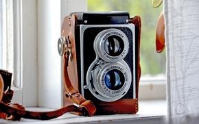 Picture retro, camera, the camera, old, ricoh