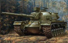 Picture figure, tank, Germany, the Bundeswehr, G. Klawek, M-48 A2 GA2