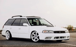 Picture Subaru, white, tuning, legacy