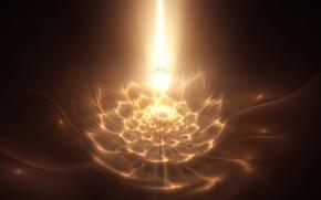 Picture fractals, glow, fractal pattern
