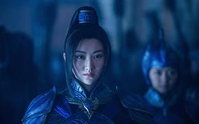Picture cinema, wallpaper, girl, soldier, armor, long hair, woman, beautiful, movie, brunette, asian, film, warrior, black …