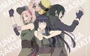 Picture anime, Sakura, art, Sasuke, Naruto, Naruto, Hinata