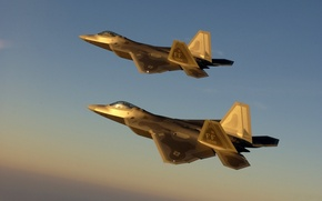 Wallpaper Flight, The sky, raptor, Aircraft, Multipurpose, Clouds, Fighter, F-22