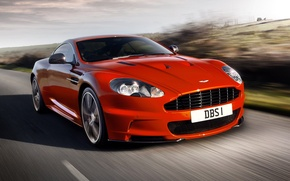 Picture road, the sky, Aston Martin, supercar, aston martin, dbs, the front, carbon edition, DBS