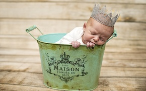 Picture sleep, crown, baby, child, baby, Taz, prynts