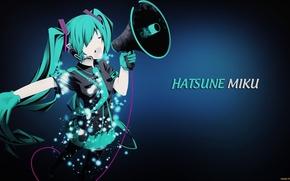 Picture microphone, vocaloid, hatsune miku, Vocaloid, Hatsune Miku