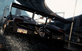 Picture squirt, speed, sports car, view, Zonda R, need for speed most wanted 2012