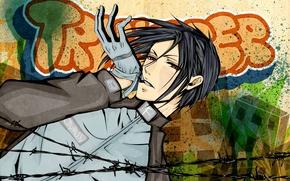 Picture anime, art, Sebastian Michaelis, dark Butler
