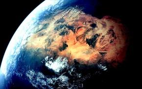 Picture planet, Earth, the Sahara desert
