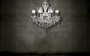 Picture wall, chandelier, 155, crystal