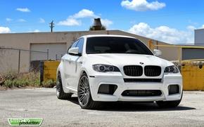 Picture BMW, white, white, X6M