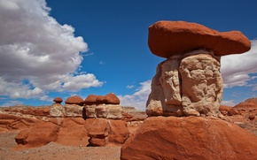 Picture the sky, clouds, stones, rocks, pyramid