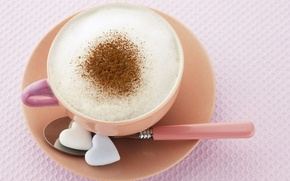 Wallpaper Macro, Coffee, Cup, Cappuccino