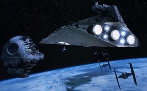 Picture star wars, spaceship, the death star