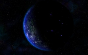 Wallpaper black, planet, space