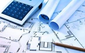 Picture pencil, architecture, layout, drawing, calculator