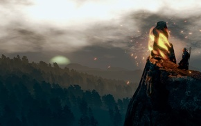 Picture landscape, The Witcher, Meditation, The Witcher 3:Wild Hunt, a place of power