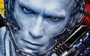 Picture eyes, look, face, Arnold Schwarzenegger, Mr. Freeze, Batman and Robin
