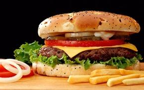 Picture food, hamburger, sandwich