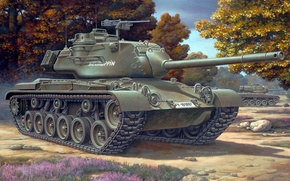 Picture tank, USA, France, Medium tank, figure, Brandenburg, Italy, The caliber of the gun 90 mm, …