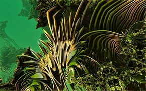 Picture abstraction, green