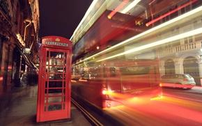Picture light, night, the city, lights, street, England, London, excerpt, telfon