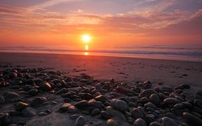 Picture sea, the sky, water, the sun, stones, the ocean, shore, coast, landscapes, stone, heaven, view, ...