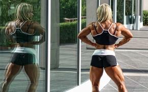 Wallpaper power, female, bodybuilder, Claire O'connell
