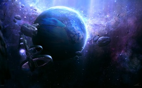 Wallpaper planet, blackpearl, ships